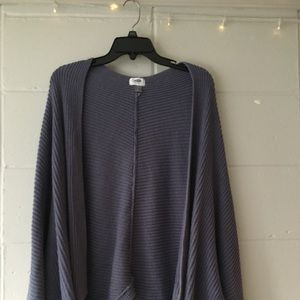 old navy purple knit cardigan